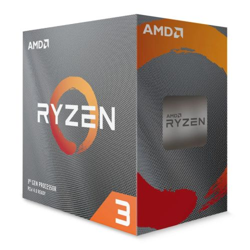 AMD Ryzen 3 3100 CPU with Wraith Stealth Cooler, AM4, 3.6GHz (3.9 Turbo), Quad Core, 65W, 18MB Cache, 7nm, 3rd Gen, No Graphics, Matisse